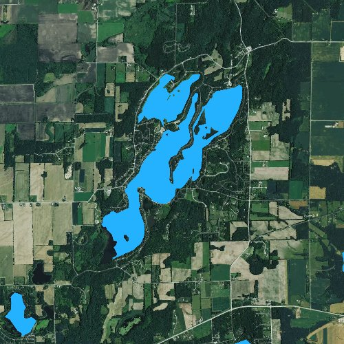 Fly fishing map for Whitewater Lake 70, Wisconsin