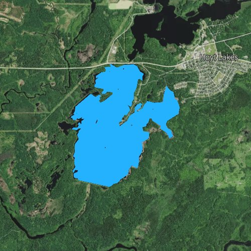 Fly fishing map for Whitewater Lake, Minnesota