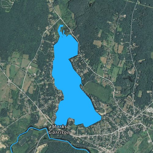 Fly fishing map for Wickaboag Pond, Massachusetts