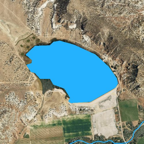 Fly fishing map for Wide Hollow Reservoir, Utah