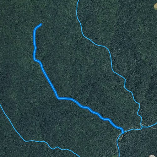Fly fishing map for Widows Creek, North Carolina