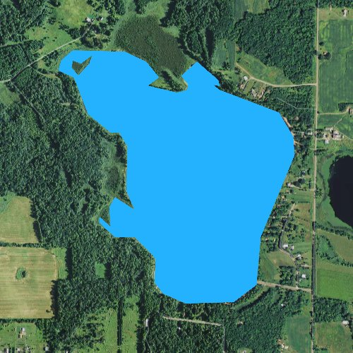 Fly fishing map for Wild Goose Lake, Wisconsin