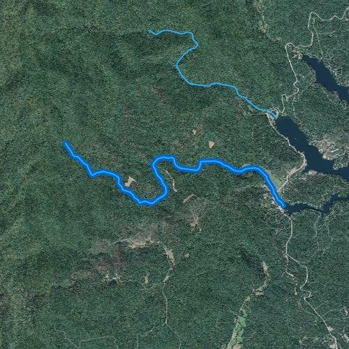 Fly fishing map for Wildcat Creek, Georgia