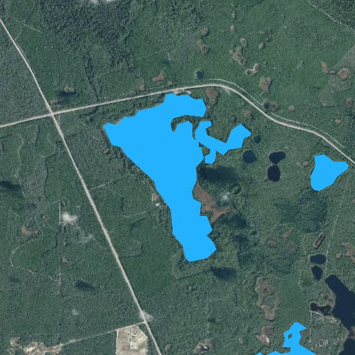 Fly fishing map for Wildcat Lake, Florida