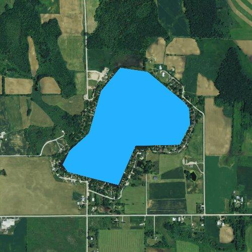 Fly fishing map for Wilke Lake, Wisconsin