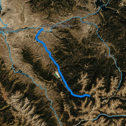 Fly fishing map for Williams Fork, Colorado
