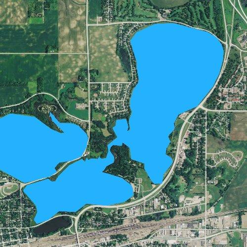 Fly fishing map for Willmar Lake, Minnesota