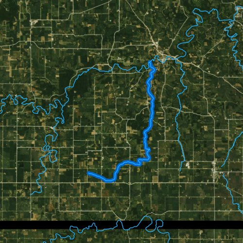 Fly fishing map for Willow Creek, Minnesota