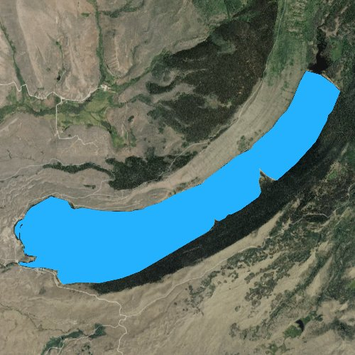 Fly fishing map for Willow Lake, Wyoming