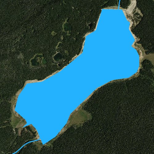 Fly fishing map for Willow Park Reservoir, Wyoming