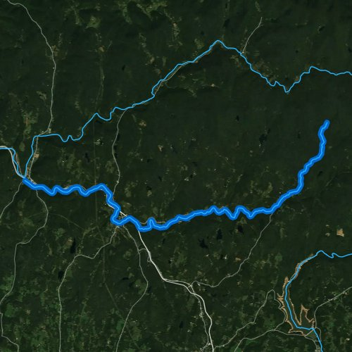 Fly fishing map for Willowemoc Creek, New York