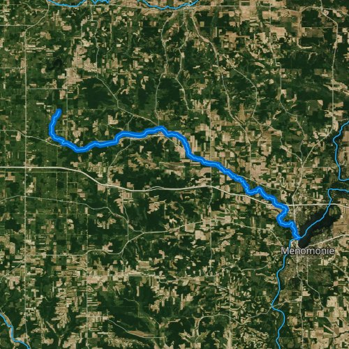 Fly fishing map for Wilson Creek, Wisconsin