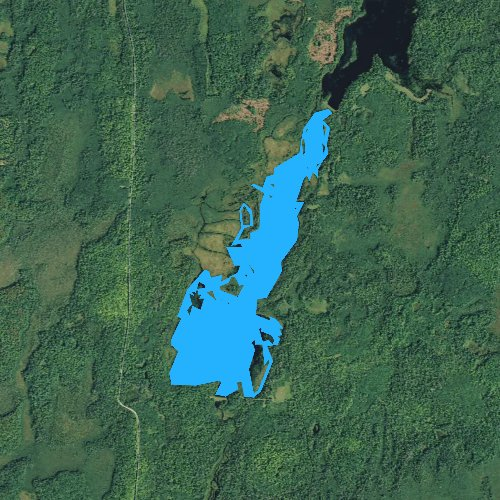 Fly fishing map for Wilson Flowage, Wisconsin