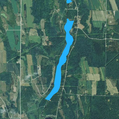 Fly fishing map for Wilson Lake, Michigan