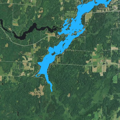Fly fishing map for Wilson Lake, Wisconsin