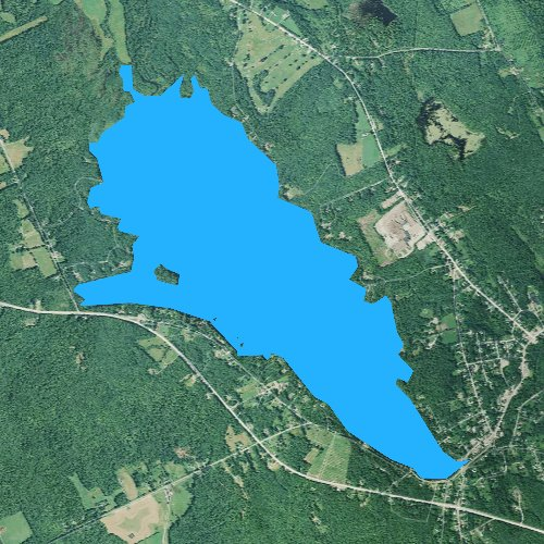 Fly fishing map for Wilson Pond, Maine