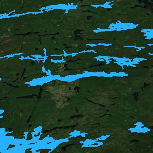 Fly fishing map for Winchell Lake, Minnesota