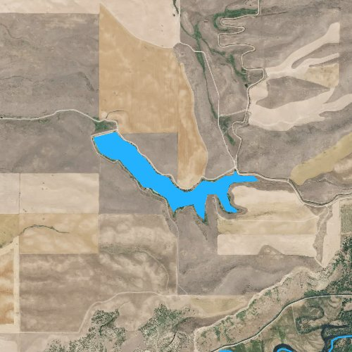 Fly fishing map for Winder Reservoir, Idaho