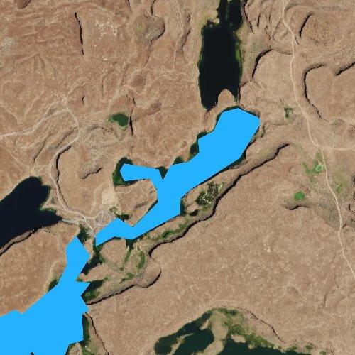 Fly fishing map for Windmill Lake, Washington