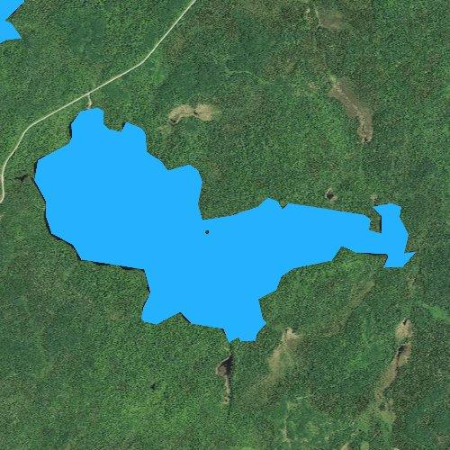 Fly fishing map for Windy Lake, Minnesota