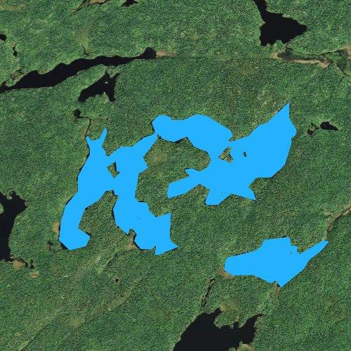 Fly fishing map for Wine Lake, Minnesota