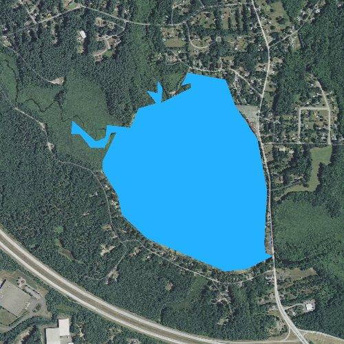 Fly fishing map for Winnecunnet Pond, Massachusetts
