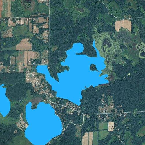 Fly fishing map for Winnewana Impoundment, Michigan
