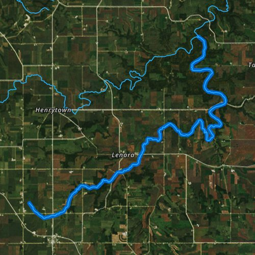 Fly fishing map for Wisel Creek, Minnesota
