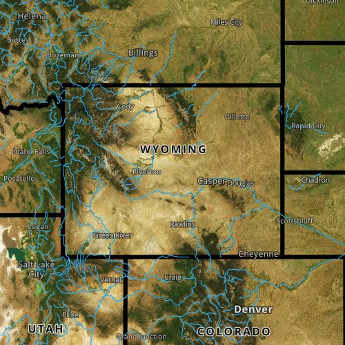 Fly fishing report and map for Wyoming.