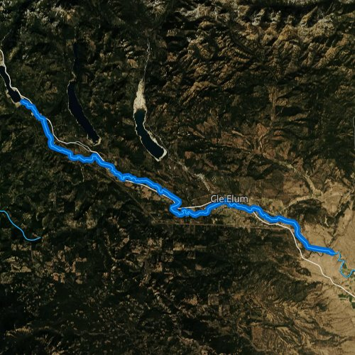 Fly fishing map for Yakima River: Upper, Washington