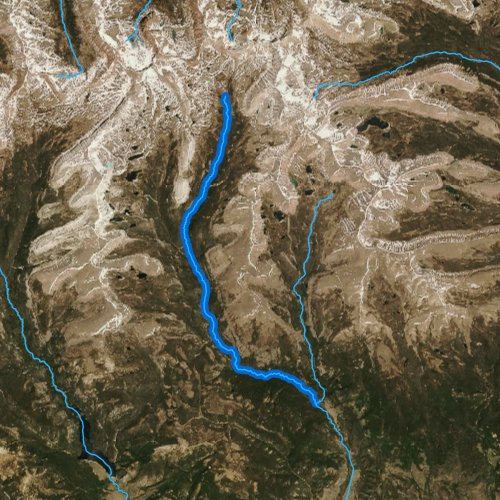 Fly fishing map for Yellowstone Creek, Utah