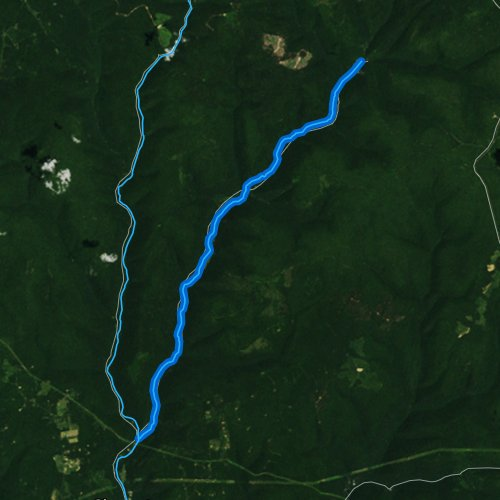 Fly fishing map for Young Womans Creek, Pennsylvania